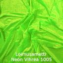 joustava kangas lycra sametti Loimusametti Fluo Green 1005