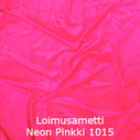 joustava kangas lycra sametti Loimusametti Fluo Pink 1015
