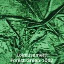 joustava kangas lycra sametti Loimusametti Forest Green 1002