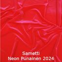joustava kangas lycra sametti Neon Red 2024