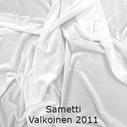 joustava kangas lycra sametti Valkoinen 2011