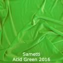 joustava kangas lycra sametti Acid Green 2016