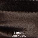 joustava kangas lycra sametti Otter 8147