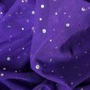 joustava kangas paljetti Verkko Cosmic Purple Hopea