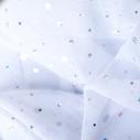 joustava kangas paljetti Verkko Cosmic Valkoinen Hopea