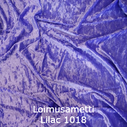 joustava kangas lycra sametti Loimusametti Lilac 1018