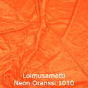 joustava kangas lycra sametti Loimusametti Fluo Orange 1010