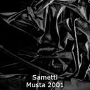 joustava kangas lycra sametti Musta 2001