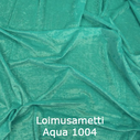 joustava kangas lycra sametti Loimusametti Aqua 1004