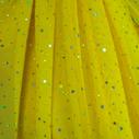 joustava kangas paljetti Verkko Cosmic Keltainen Hopea