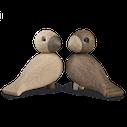 oiseaux, amour,sculpture, reedition,jouet,animaux en bois, scandinave,decoration,galerie paris, le marais, nordique,danois,artisanat,