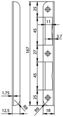 Winkelschliessblech GLUTZ B-1001.231