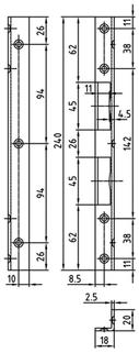 Winkelschliessblech GLUTZ B-1307.131