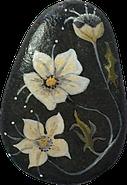 Les Galets de Lyzzz - galet fleurs et arbres décoration arts de la table