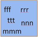 drei t f m n Buchstaben