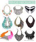 verschiedene Stile dramatischer Halsketten