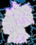 karte zum Vorkommen des Steinwälzers (Arenaria interpres) während des Durchzuges in Deutschland