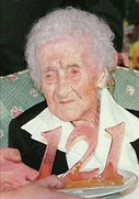 Jeanne Calment at her 121 birthday