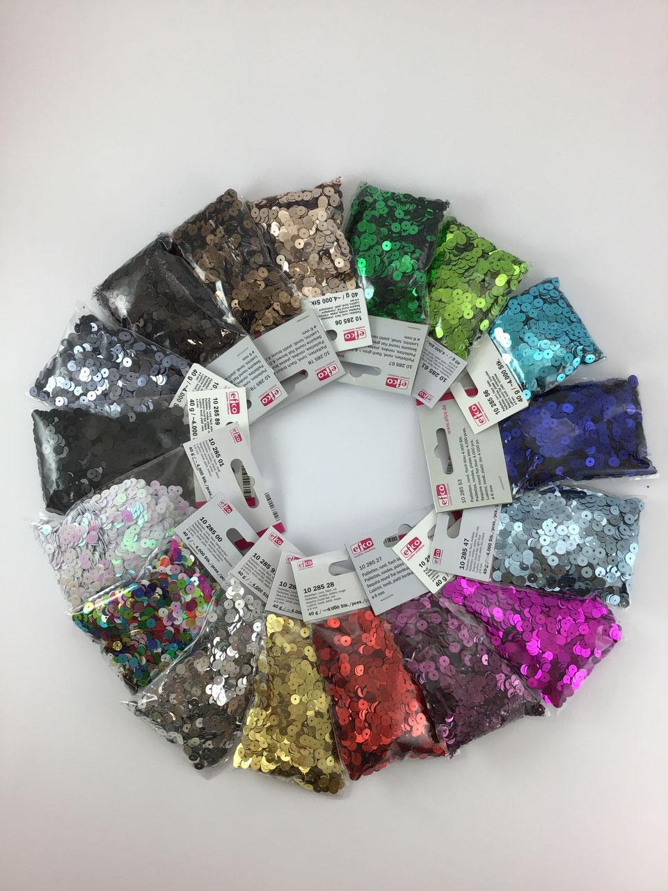 Hochzeitskleid Craft 28 Farbe Yuchen 10g Packung Runde Pailletten 6mm 8mm 10mm 15mm 20mm 30mm N/ähpailletten zum Basteln Schmuckzubeh/ör