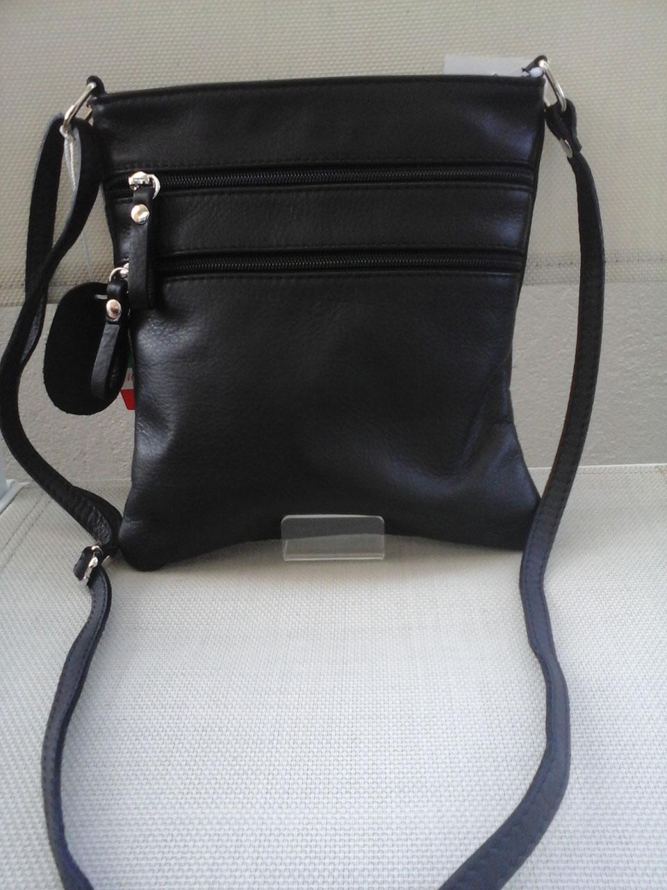 40ddb133d9 Sac pochette cuir italien 3 poches zippées extérieures