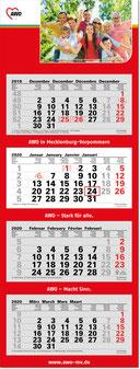 4-Monats-Mehrblock-Kalender 2019