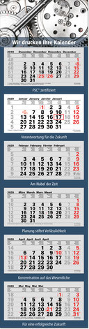 6-Monats-Mehrblock-Kalender 2019