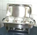 Chafing Dish mit 3 x GN-Behälter 1/3