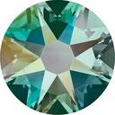 Swarovski 2038 205AB Emerald Aurore Boreale Hotfix