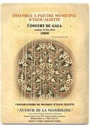 Concert de Gala 2015 « Autour de la mandoline »