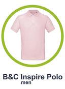 B&C inspire polo men bedrucken