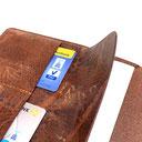 Buchhüllen aus Leder in drei Größen