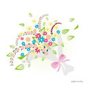 花のイラスト Flower Illustration 工房momo