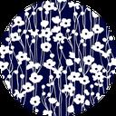 Pattern design Shuumeikiku indigo blue