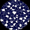 Pattern design Hiware indigo blue