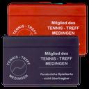 """Spielkarte des damaligen """"Tennis-Treff Medingen"""""""