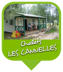 Camping Sites & Paysages  Les Saules à Cheverny - Loire Valley - Vacances au coeur du Val de Loire - Chalet Les Cannelles