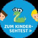 bunter Button zum Kinder-Online-Sehtest