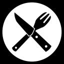 Gekreuzte Messer und Gabel