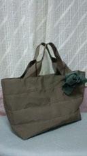 畳縁たたみへりバッグ マロンカラー