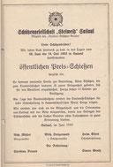 Einladung Bundesschießen 1953
