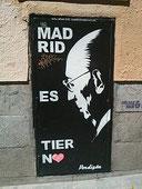 Tierno Galván, alcalde progresista de Madrid.