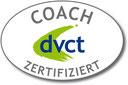 Zertifiziert vom Deutschen Verband für Coaching und Training, dvct. Das Bild zeigt das Logo des dvct.