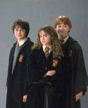 Harry (Daniel Radcliffe), Ron (Rupert Grint) et Hermione (Emma Watson)