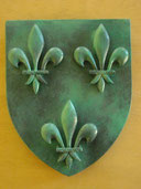 Reproduction Blason France Bronze sculpté