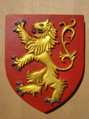 Reproduction Blason Lion sculpté