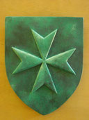 Reproduction Blason Croix de Malte bronze