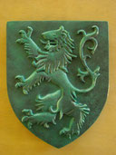 Reproduction Blason Lion sculpté bronze