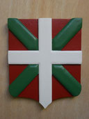 Reproduction Blason Pays Basque sculpté