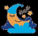 Icoontje tevreden slapende maan