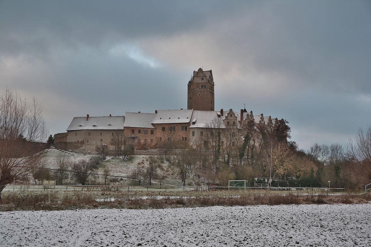 Schloss Plötzkau im Winter Foto: Lutz Altrock